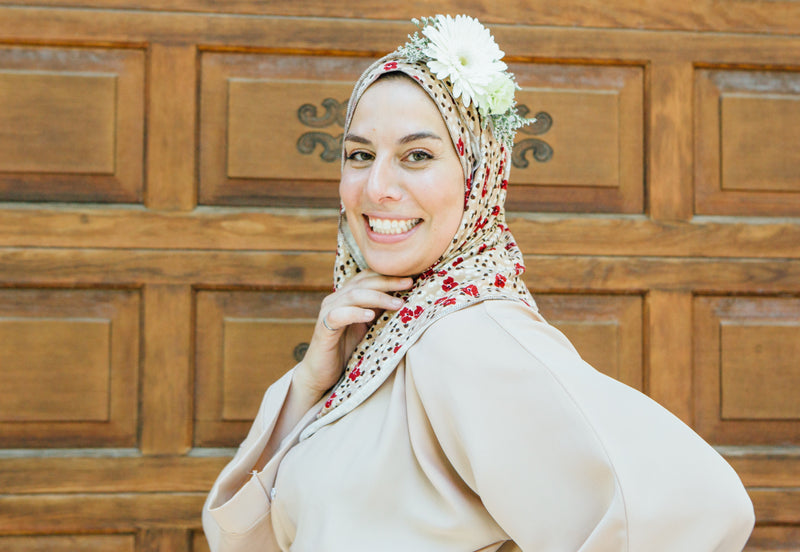 Casual Collection: Brown Floral Jersey - leenashijabs