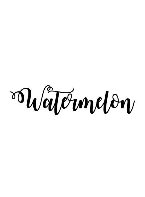 Personalized Name: Watermelon Font - leenashijabs