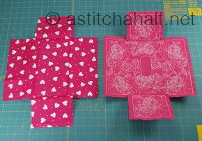 HOW TO MAKE: a Beautiful Fabric Tissue Box Cover with Pretty Peony Embroidery Designs at astitchahalf.net