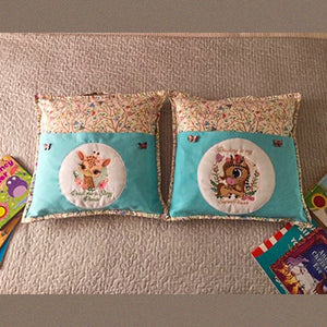 Project by Carol with Baby Mustang and Baby Giraffe Reading Pillow Combos