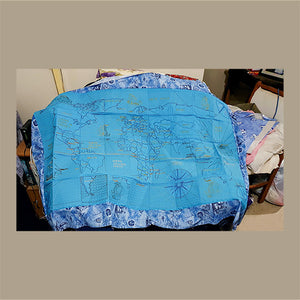 Antique World Map Complete Quilt and Designs Pack by Karen Lane from South Australia