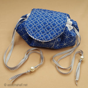 Japanese Sashiko Circle Bag - a-stitch-a-half