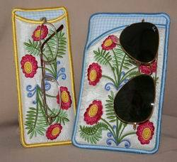 Fantasy Floral Eyeglass Cases - astitchahalf
