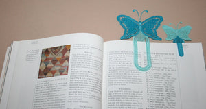 Butterfly Paperclip Bookmark - a-stitch-a-half