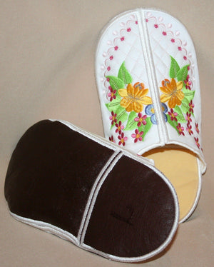 Touch of Spring Slippers - a-stitch-a-half