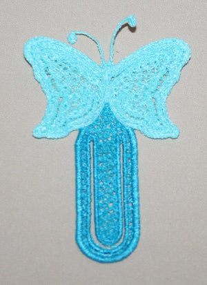 Butterfly Paperclip Bookmark - astitchahalf