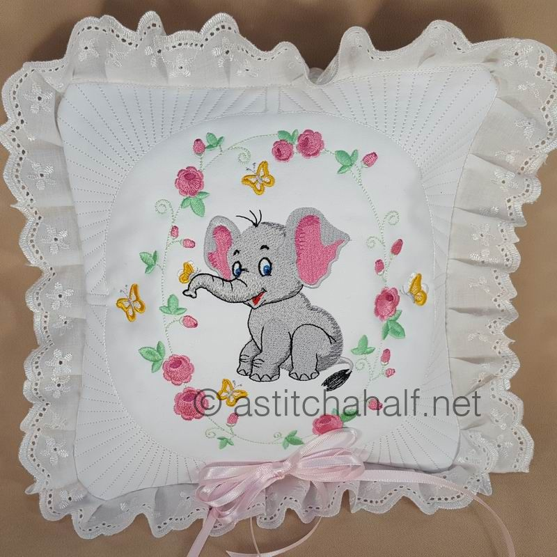 Eli And Ella Baby Elephant Pillow Quilt Combo Astitch Ahalf