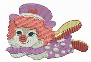 Giggle the Clown - a-stitch-a-half