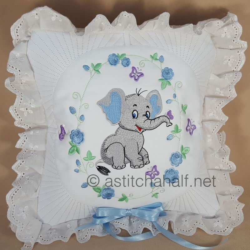Eli and Ella Baby Elephant Pillow Quilt Combo - a-stitch-a-half