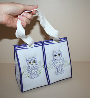 Hoot Hoot Tote Bag - a-stitch-a-half