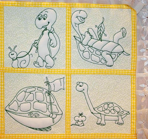 Trapunto Turtle Time - a-stitch-a-half