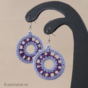 Super Variety Freestanding Lace Earrings Combo - a-stitch-a-half
