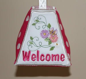 Paper Weight and Door Stopper Flowery Welcome - a-stitch-a-half