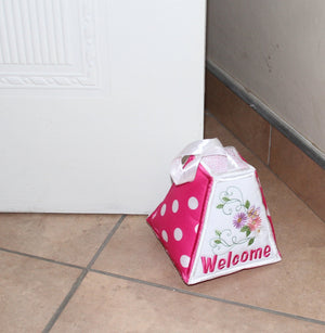 Paper Weight and Door Stopper Flowery Welcome