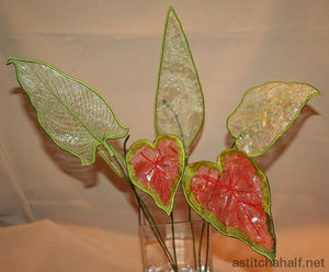 3D Green Leaves Applique