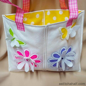3D Happy Spring Tote - a-stitch-a-half