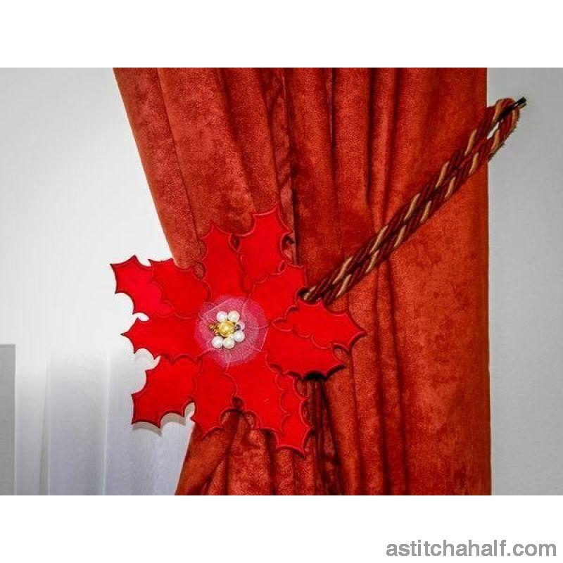 3D Poinsettia Flower - astitchahalf