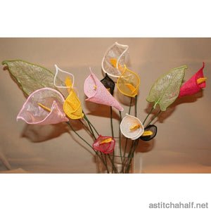 3D Silk Calla Lily Freestanding Lace