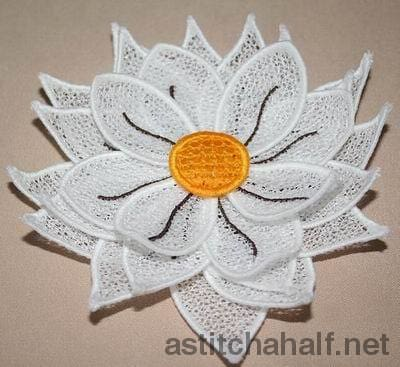 3d Silk Sunflower - a-stitch-a-half