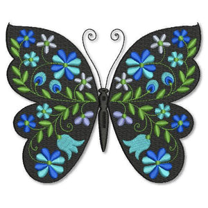 Butterfly Black and Blue Prussian - astitchahalf