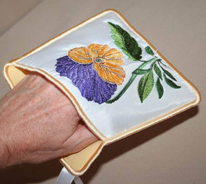 Pansy Pot Holders - a-stitch-a-half