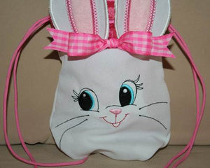 Cute Bunny Drawstring Bag - a-stitch-a-half