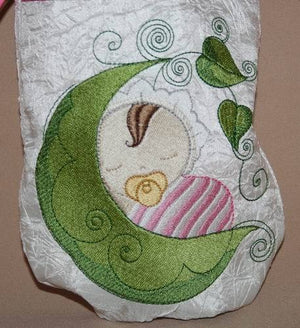 Baby Bubbles Dreaming Drawstring Bag - a-stitch-a-half