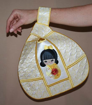 Japanese Knot Bag Sakura Doll - a-stitch-a-half