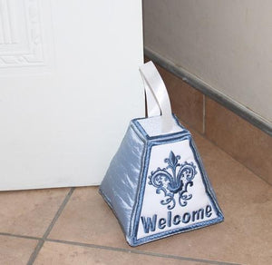 Paper Weight and Door Stopper Classic Welcome - a-stitch-a-half