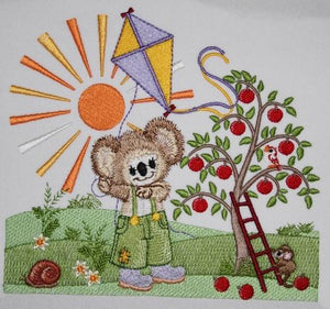 Apple Harvest Fuzzy Boy - a-stitch-a-half