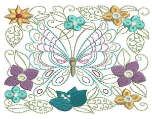 Butterfly in Season - a-stitch-a-half