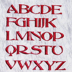 Font Abbess Capital Letters - astitchahalf