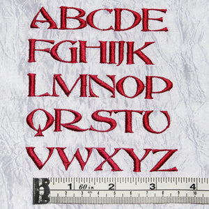 Font Abbess Capital Letters - a-stitch-a-half