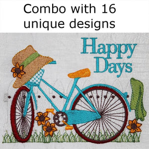 Vintage Country Cycle Combo - a-stitch-a-half