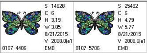 Butterfly Black and Blue Prussian - a-stitch-a-half