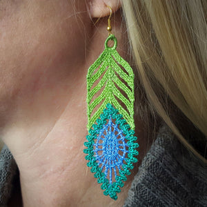 Freestanding Lace Peacock Jewels - a-stitch-a-half