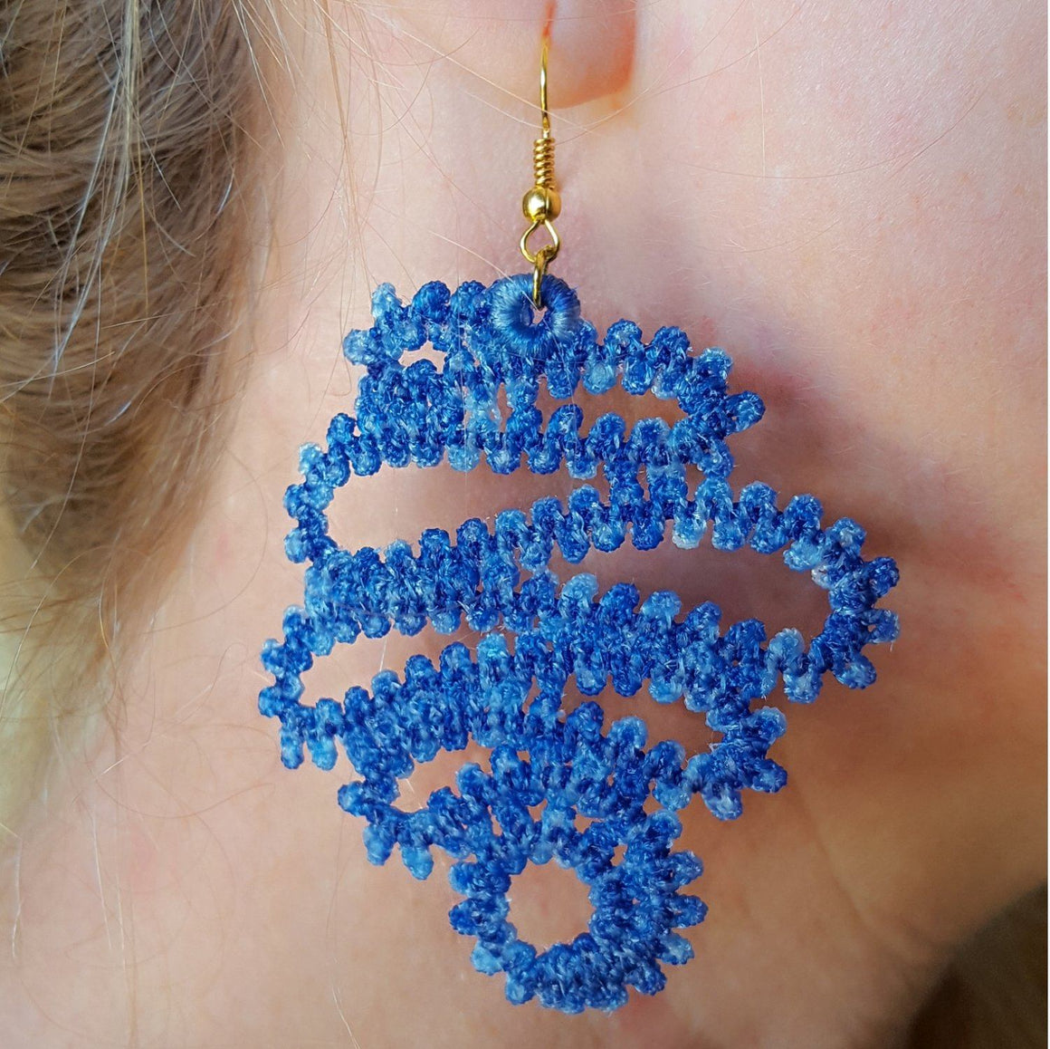 Freestanding Lace Curves Earrings - a-stitch-a-half