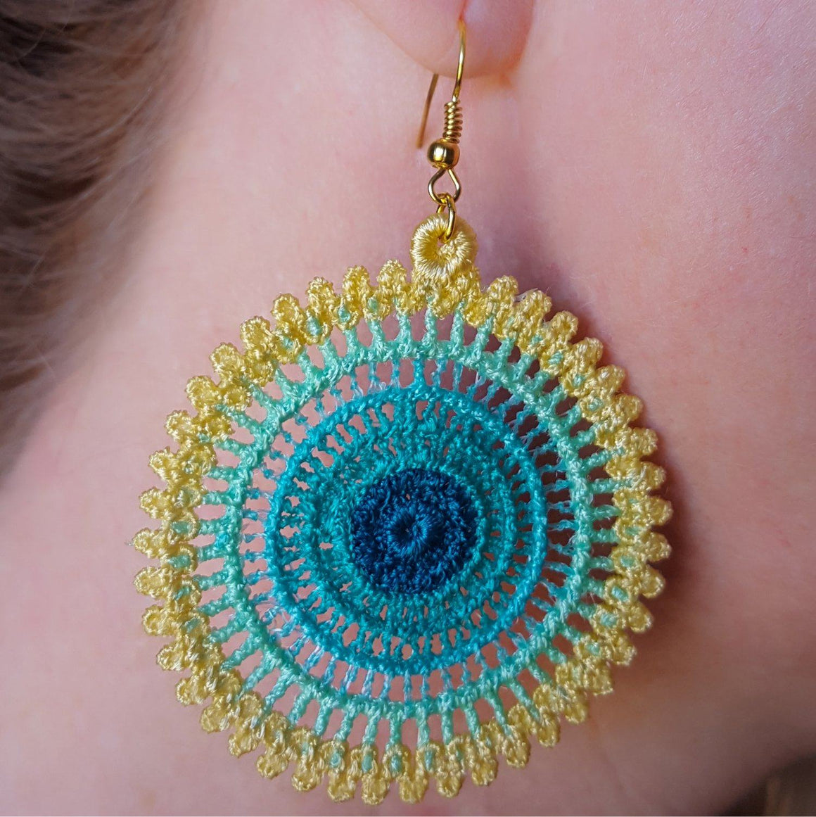 Ombre Freestanding Lace Earrings - a-stitch-a-half