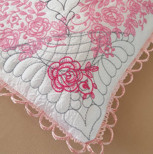 Rose Heritage Pillow Quilt Collection - a-stitch-a-half