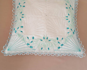 Feeling Blue Pillow Quilt Combo - astitchahalf