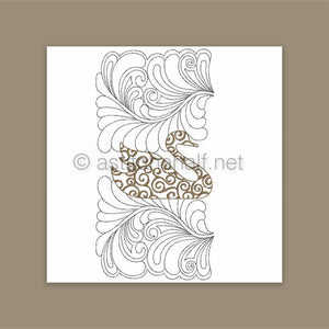 Filigree Swan Pillow Quilt Combo - a-stitch-a-half
