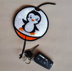 ITH Little Penguin Key Pouch - a-stitch-a-half