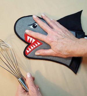 In the Hoop Bruce the Shark Oven Glove - a-stitch-a-half