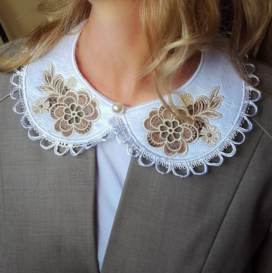 Cutwork Peter Pan Collar - a-stitch-a-half