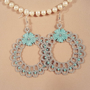 Freestanding Lace Mia Earrings - a-stitch-a-half