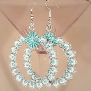 Freestanding Lace Madeline Earrings - a-stitch-a-half