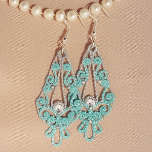 Freestanding Lace Ariana Earrings - a-stitch-a-half