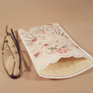 Champagne Joy Eyeglass Case - a-stitch-a-half