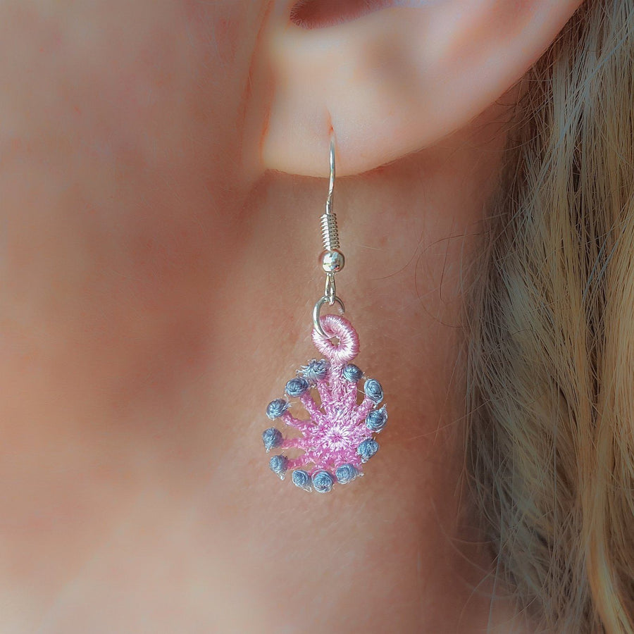 Eleanor Miniature Freestanding lace Earrings - astitchahalf