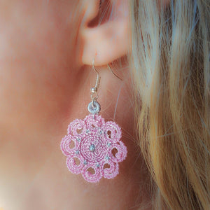 Elizabeth Miniature Freestanding lace Earrings - astitchahalf